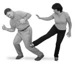 Woman Side Stomp Kick