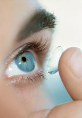 inserting a contact lens