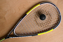 squash racquet with ball