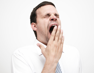 fatigue man yawning