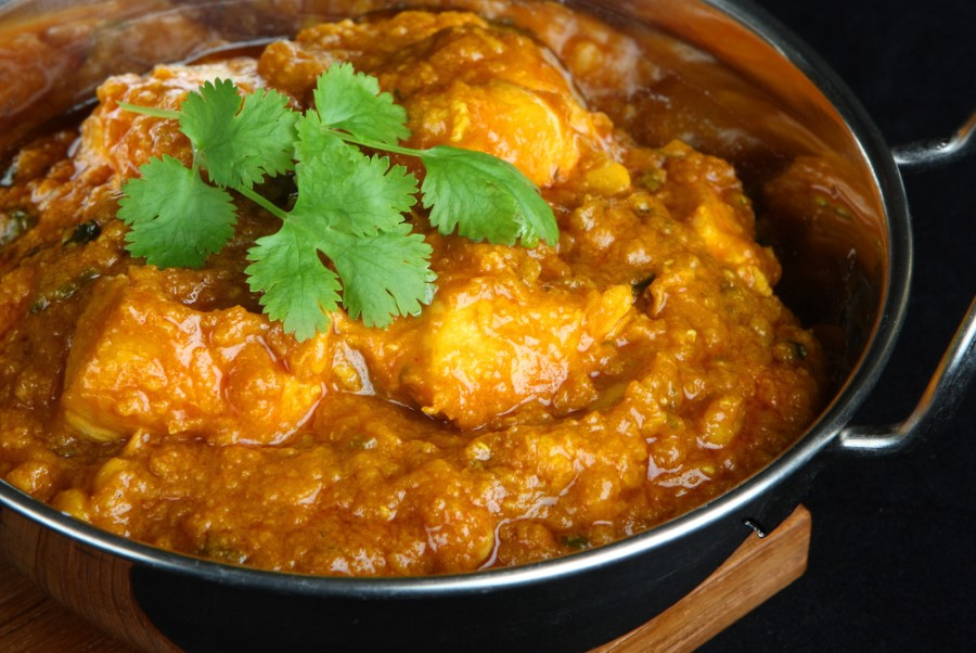 garnished bowl of curry