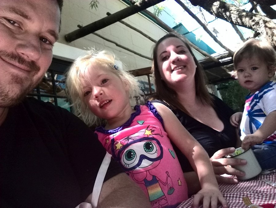 craig lotter, chantelle lotter, jessica lotter, and emily lotter - family photo at Mountain Streams Nursery