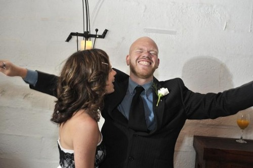 ryan and claire lotter at our wedding