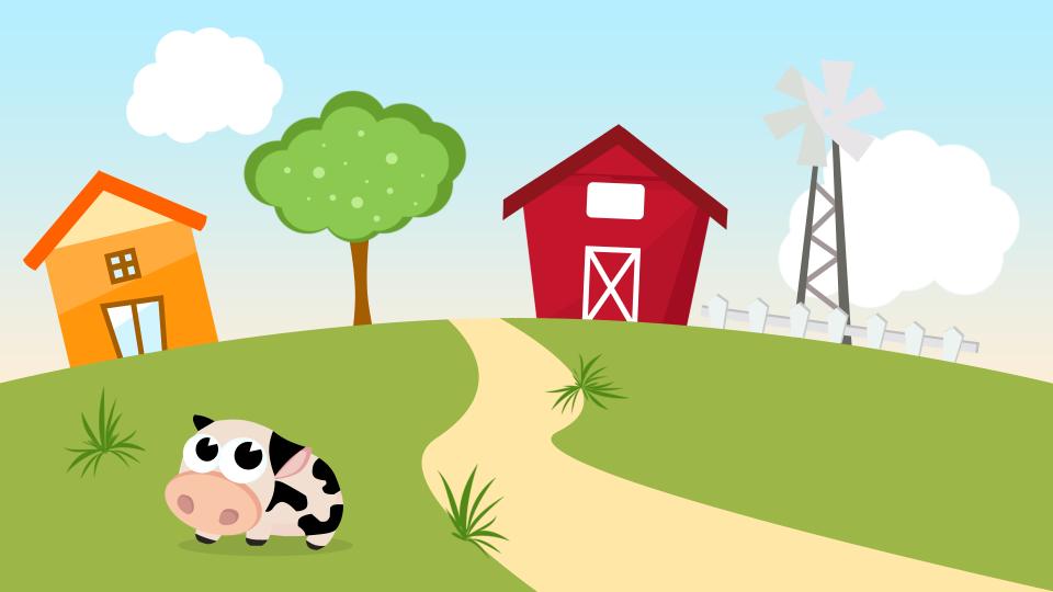 cute cartoon farm