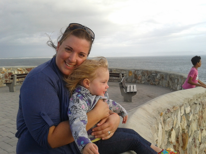 chantelle lotter and toddler jessica lotter in Hermanus