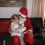 jessica lotter getting present from father christmas dean stapelberg