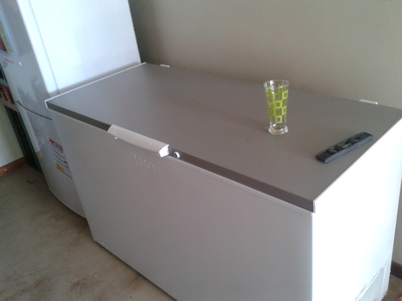 new kic 450 chest freezer in braai room at country mews