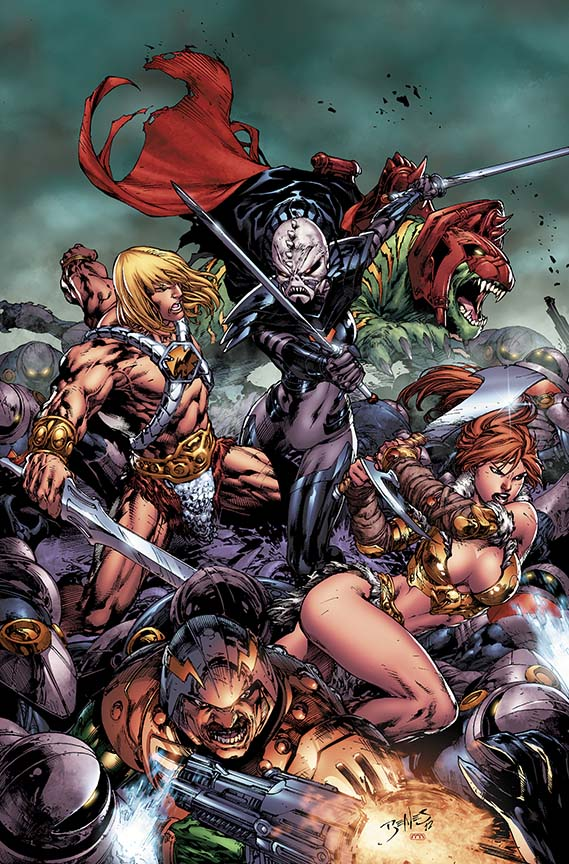 comic book art he-man and the masters of the universe by ed benes