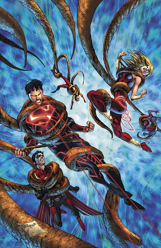 comic book art teen titans by eddy barrows and eber ferreira