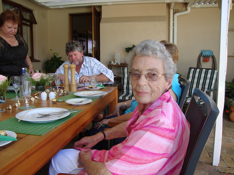 granny bothma at christmas lunch