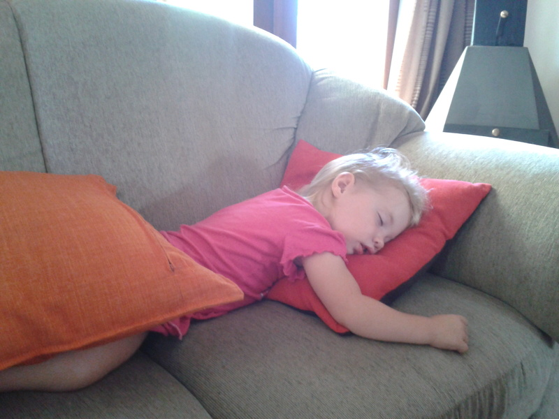 jessica sleeping on the couch