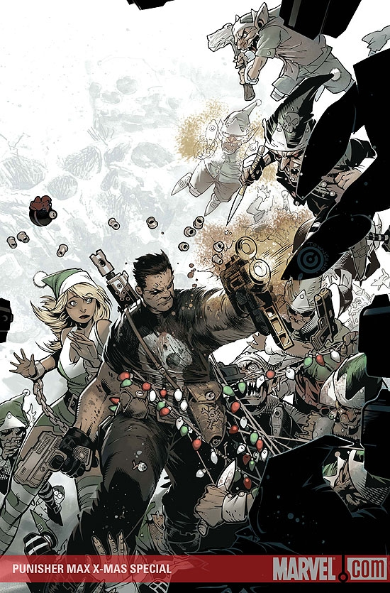 comic book art punisher max x-mas special cover by chris bachalo