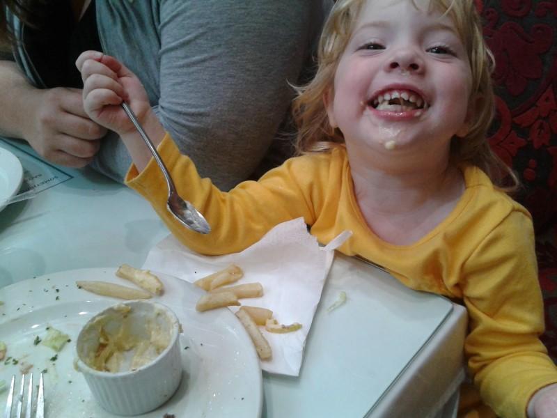 jessica lotter enjoying daddy's cheese sauce
