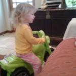 jessica lotter riding her new push bike