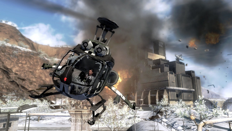 just cause 2 rico in a helicopter screen shot