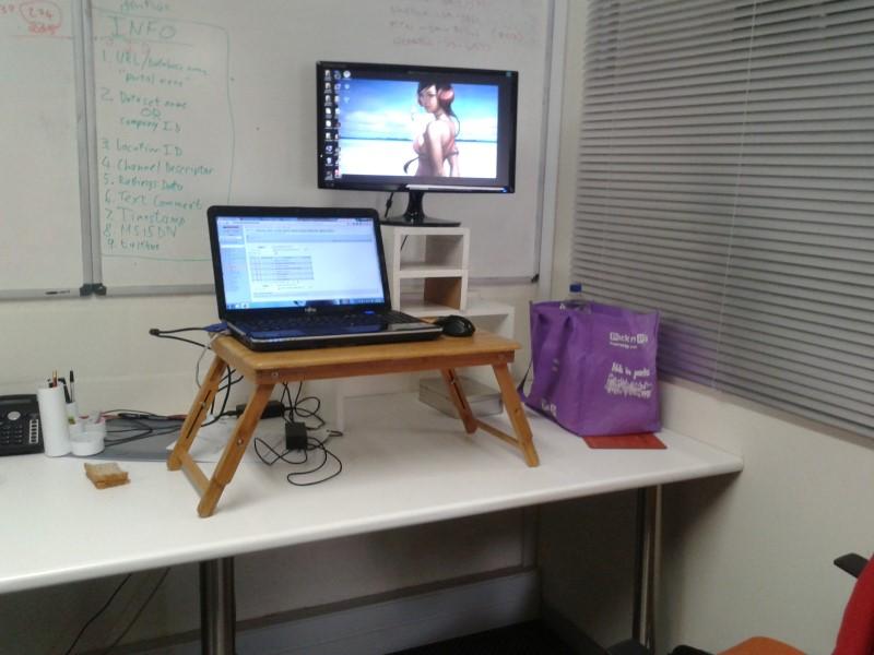 the final standing desk hack configuration