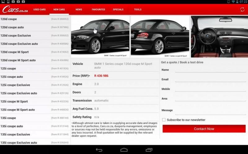 cars co za android app screenshot