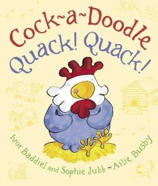 cock a doodle quack quack children book cover ivor baddiel