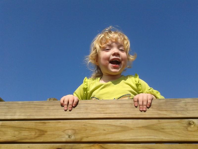 jessica lotter on climbing frame at stodels somerset west