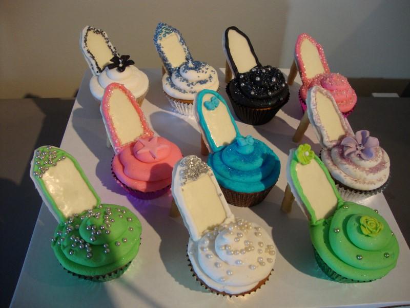 chantelle's cupcakery high heel cupcakes