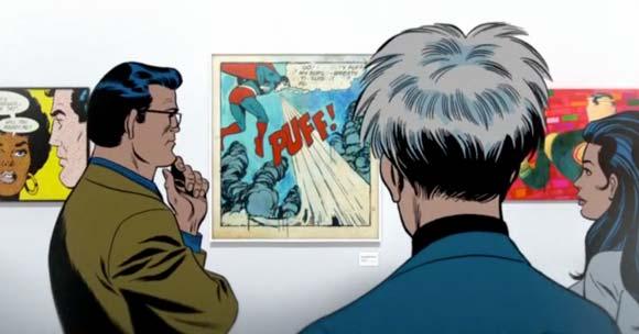 superman admiring art
