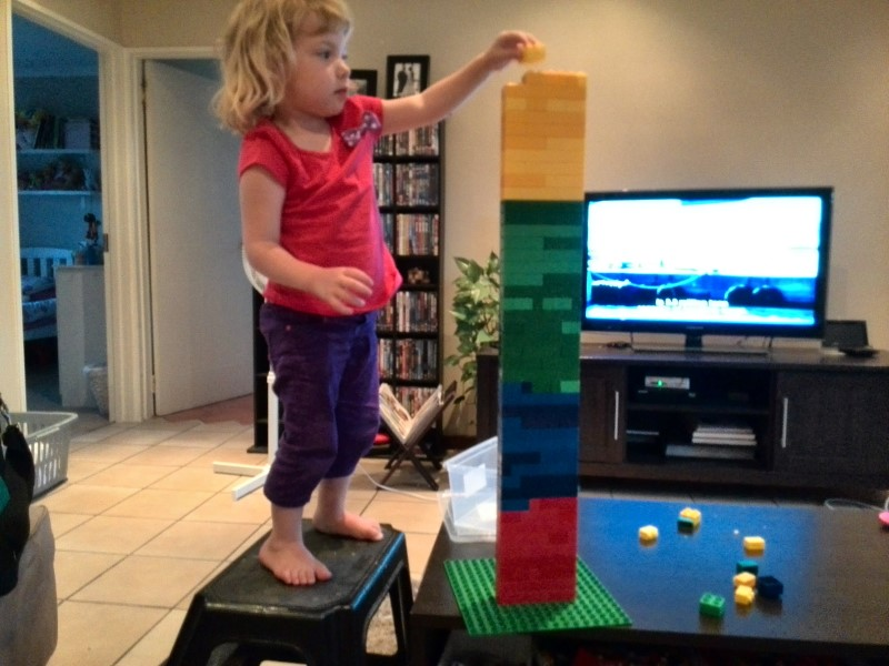 jessica lotter building lego tower