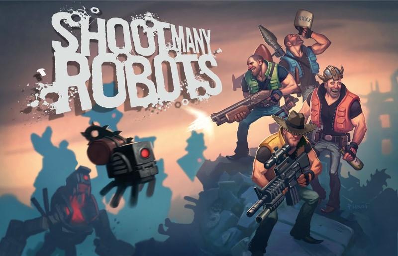 shoot many robots xbox arcade title screen