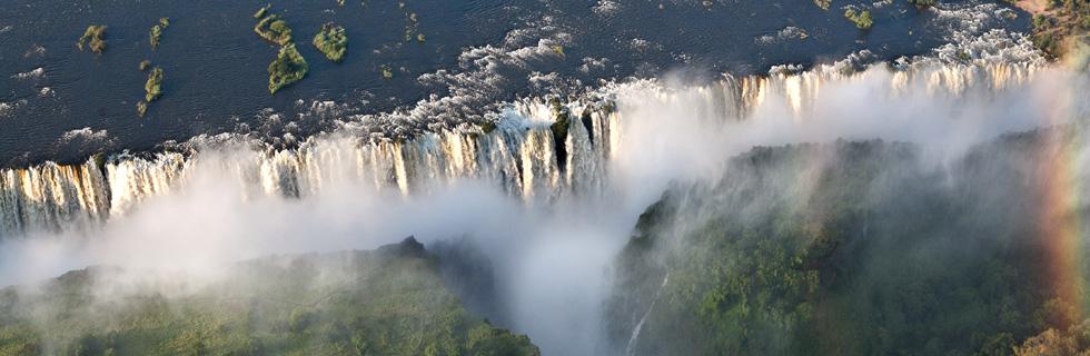zambia falls the smoke that thunders