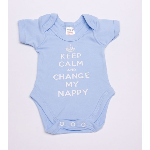 keep calm and change my nappy baby vest