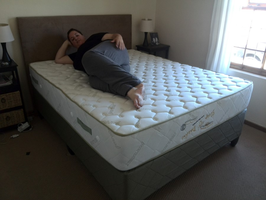 a new bed from bed city and dynamic bedding - plastic base and all 3
