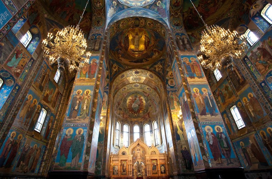The Cathedral of the Resurrection of Christ aka The Church of the Savior on Spilled Blood in st petersburg russia 2