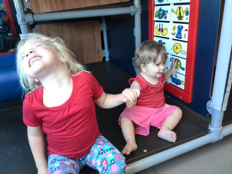 emily and jessica lotter playing together