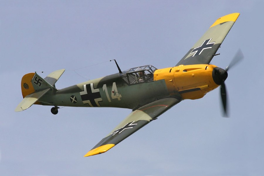 german fighter plane messerschmitt Bf 109E