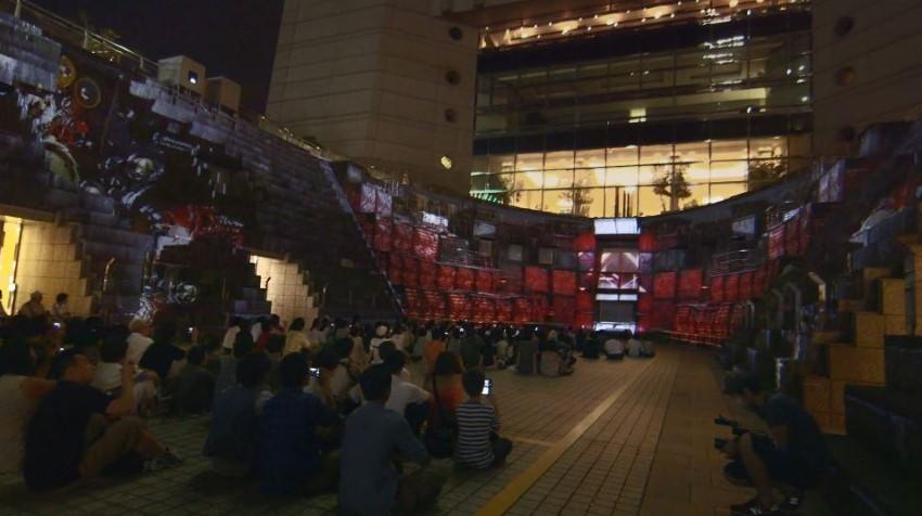 yokohama japan dockyard 3d projection mapping yokohama odyssey by hiroaki higashi ad nobumichi asai