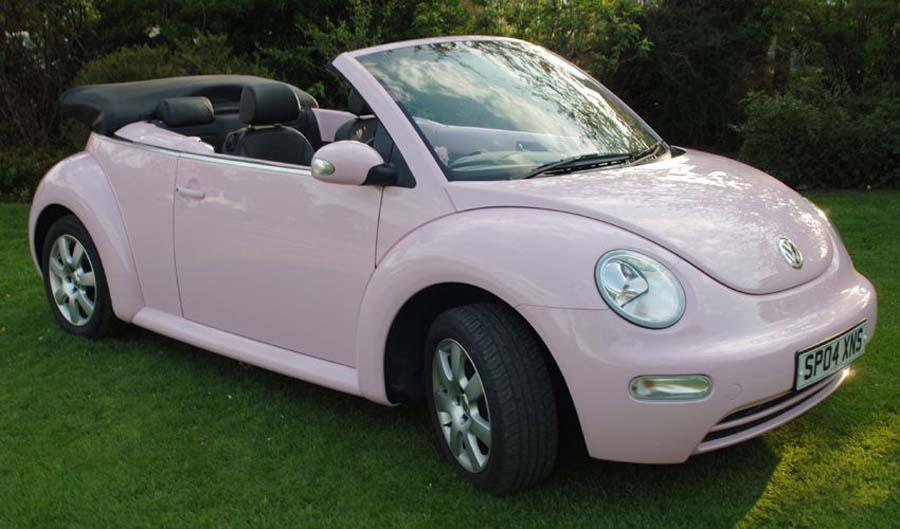 pink convertible bug - volkswagen beetle