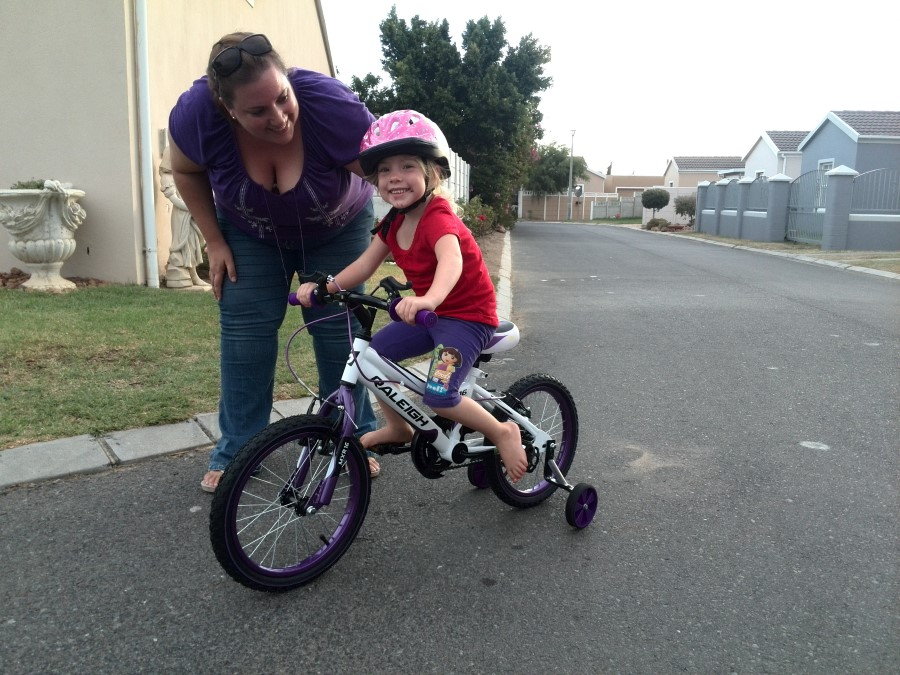 IMG_20150325_180226 - jessica lotter on her new purple raleigh bicycle
