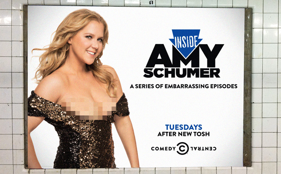 inside amy schumer a series of embarrassing episodes comedy central advert billboard