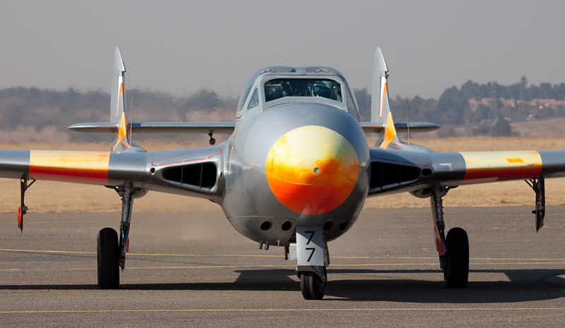 south african airforce saaf de havilland dh.115 vampire trainer jet aircraft 5
