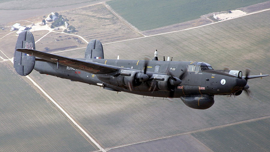 Avro Shakleton maritime patrol aircraft in flight 1
