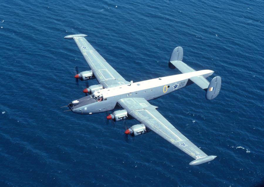 Avro Shakleton maritime patrol aircraft in flight 3