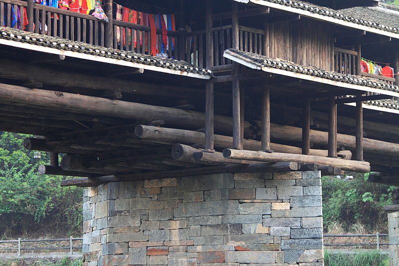 China Sanjiang Province Chengyang Wind and Rain Bridge built by the Dong people 5