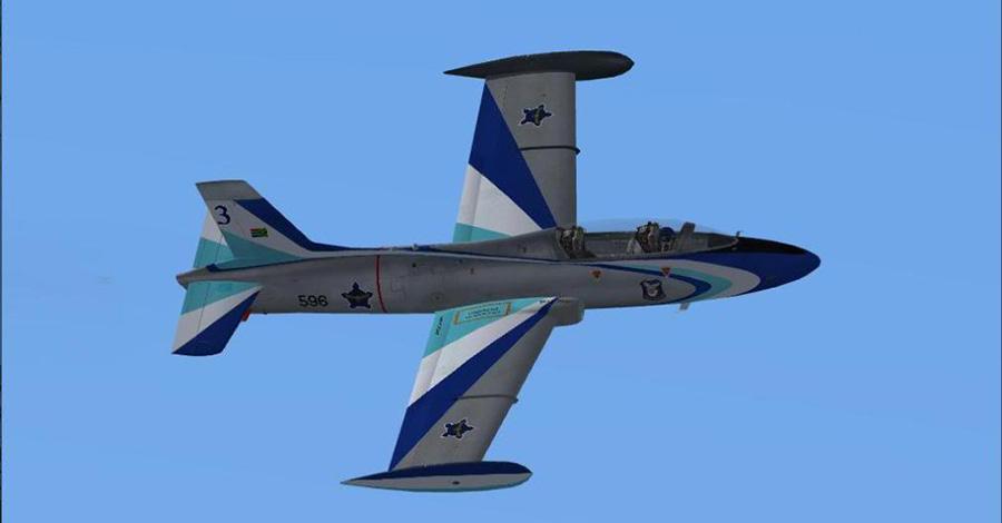 Macchi MB-326 atlas impala jet fighter plane 6 silver falcons aerobatic team impala