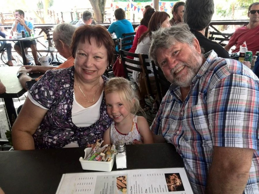 granny cheryl mongomery and grandpa monty montgomery sitting next to jessica lotter at stodels in bellville