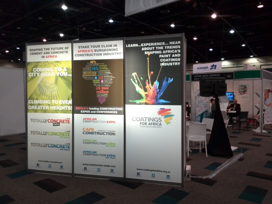 hypenica expo signage african construction week, coatings for africa