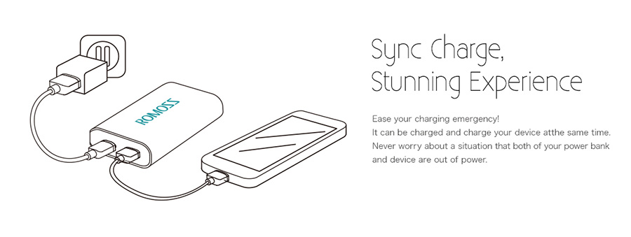romoss sailing 3 sync charge feature