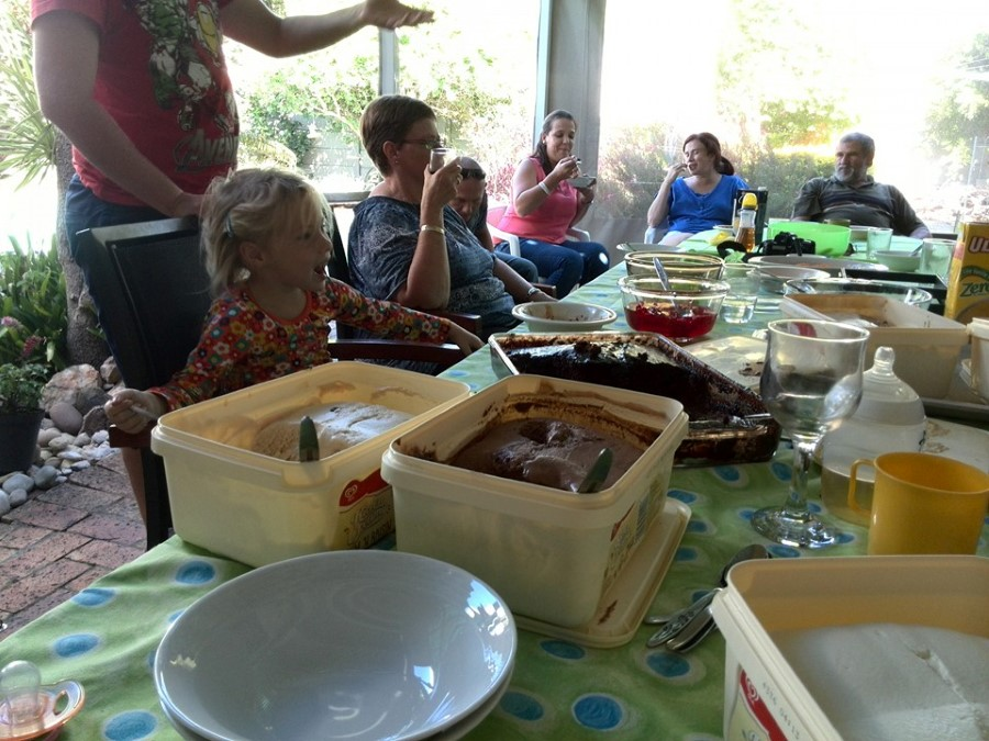 the lotter clan celebrating granny lotter's 80th birthday