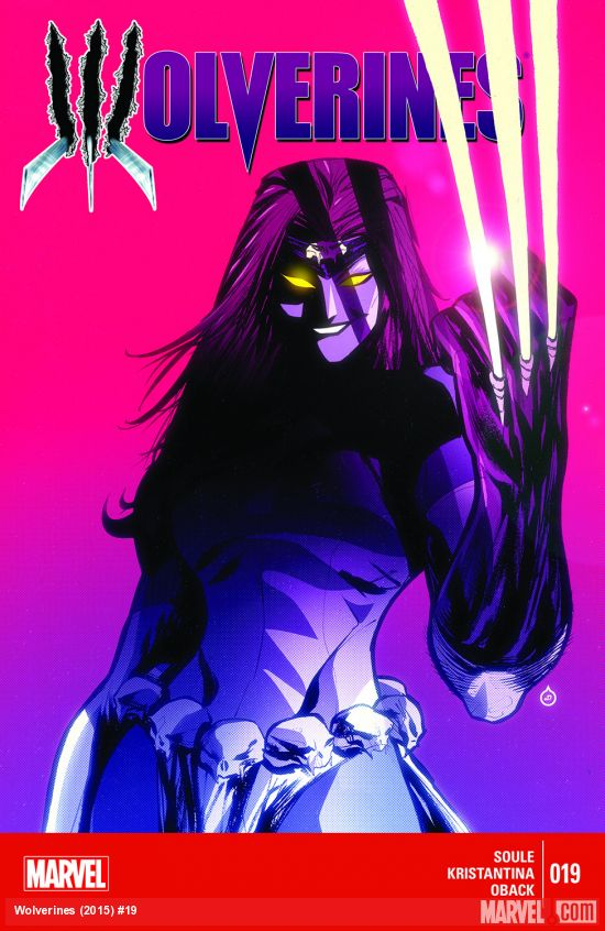 wolverine issue 19 (2015) cover art by Juan Doe feauring mystique