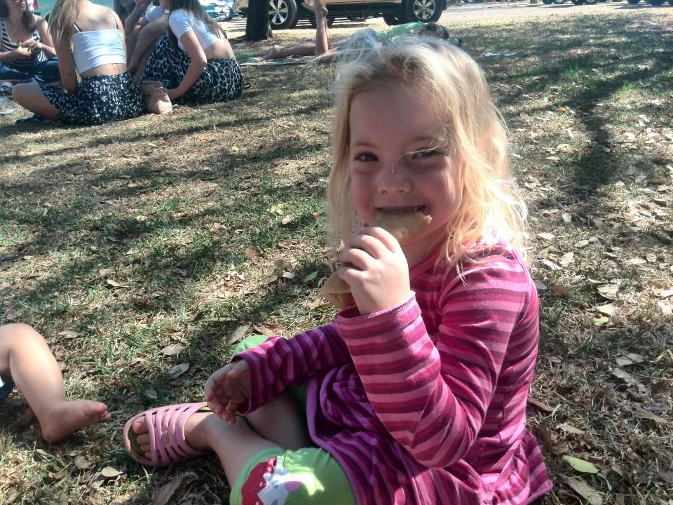 IMG_20150412_130108 jessica eating pancake at blaauwklippen family market