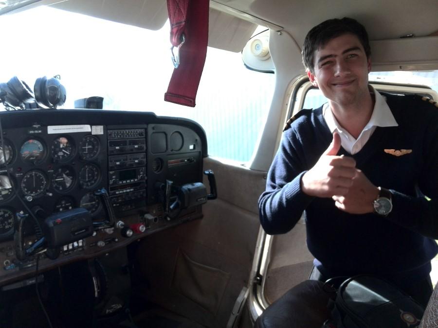 IMG_20150606_124019 stellenbosch flying club cessna 172 - ZS-SLM with pilot Benrico Vermeulen