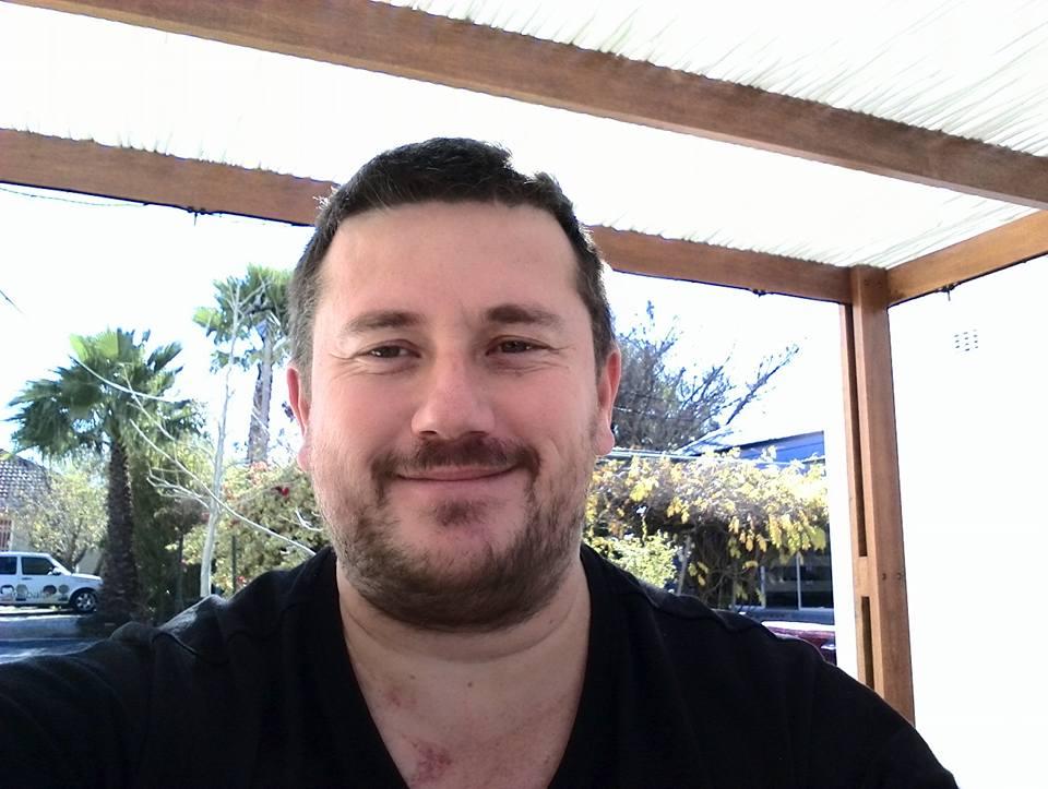 craig lotter selfie at imibala restaurant in bright street, somerset west
